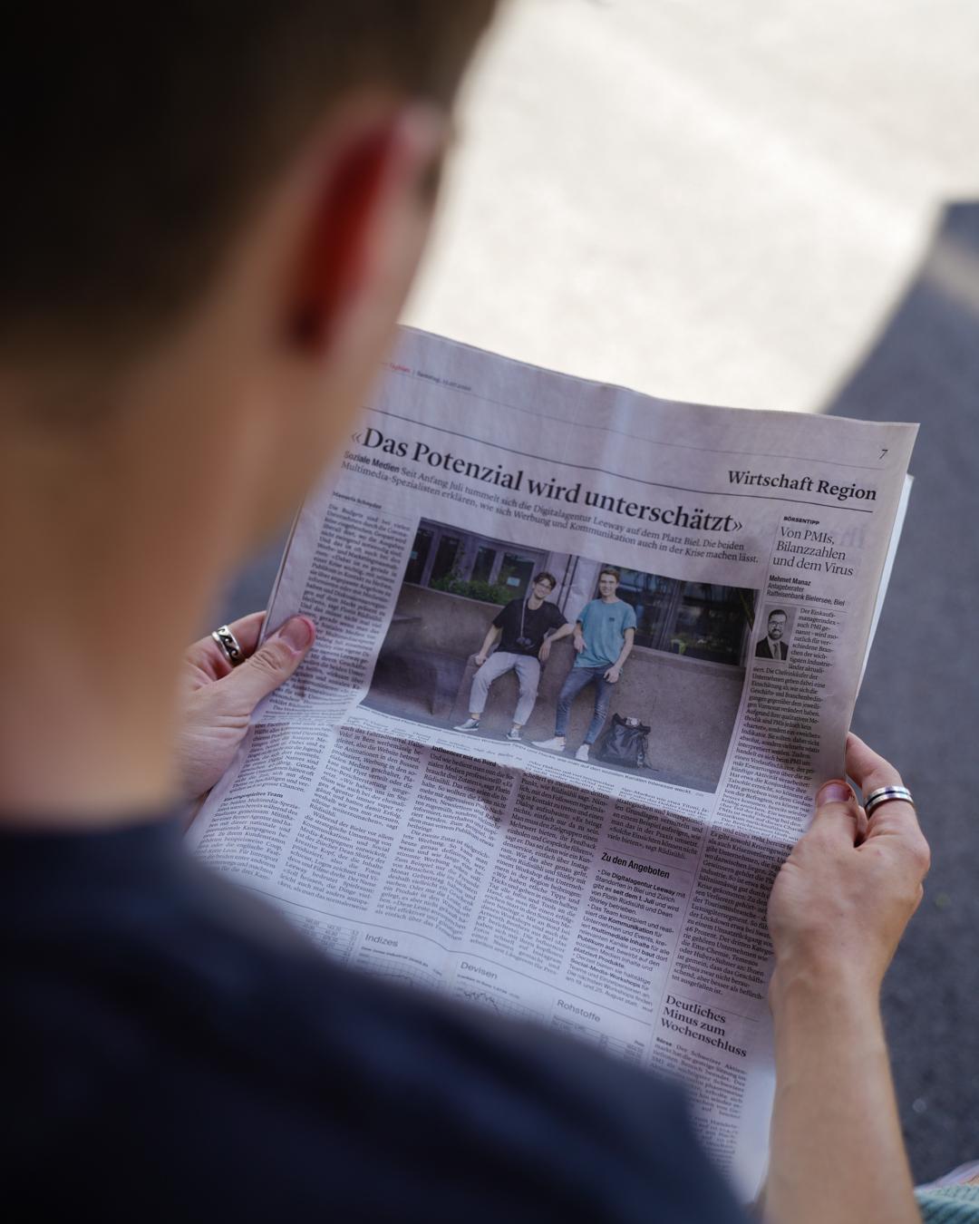 Artikel über leeway im Bieler Tagblatt