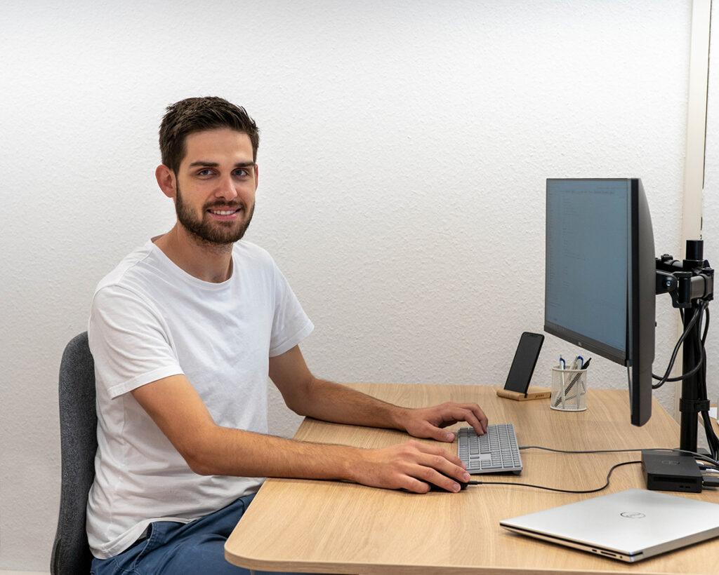 Samuel Rhyner, Gründer und Webentwickler von codecrush